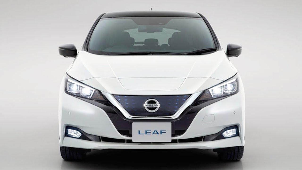 New Nissan Leaf EV 2018 Revealed in Tokyo, Japan.