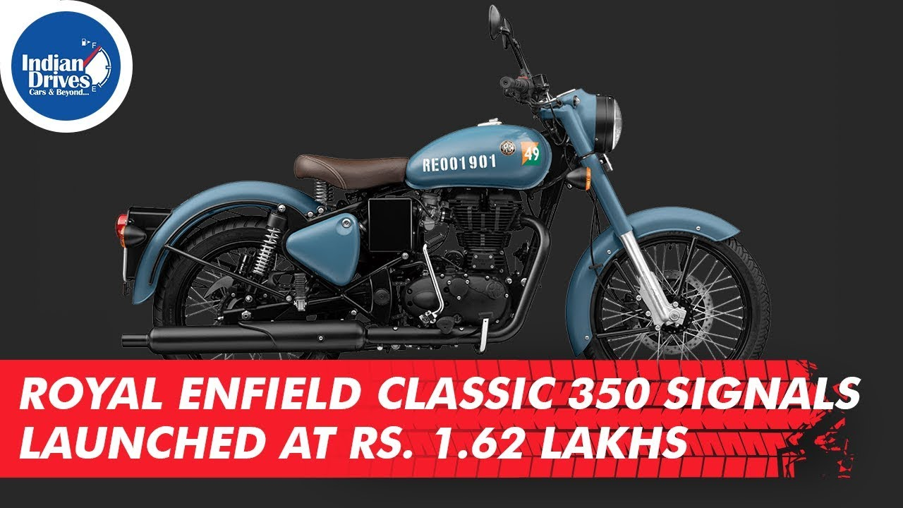 Royal Enfield Classic 350 Signals Launched At Rs. 1.62 Lakhs