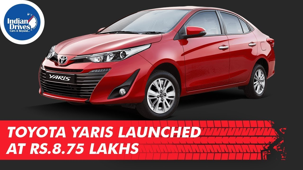 Toyota Yaris Launched At Rs.8.75 Lakhs