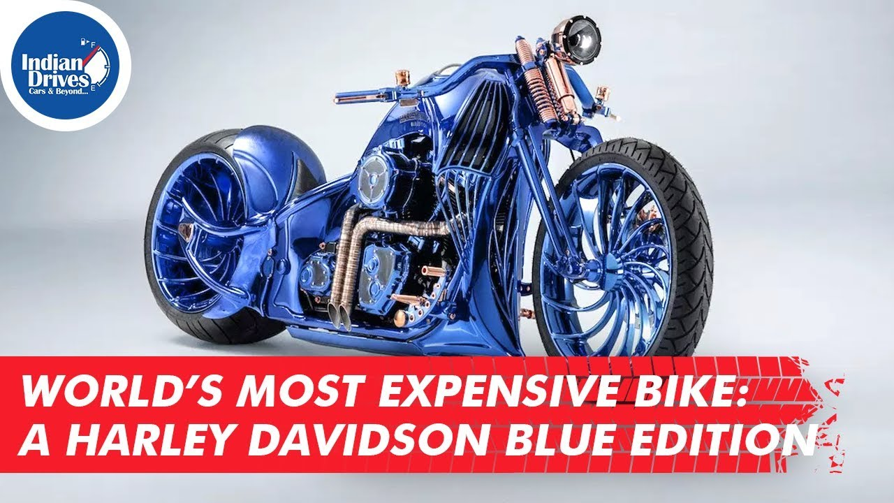 World's Most Expensive Bike: A Harley Davidson Blue Edition