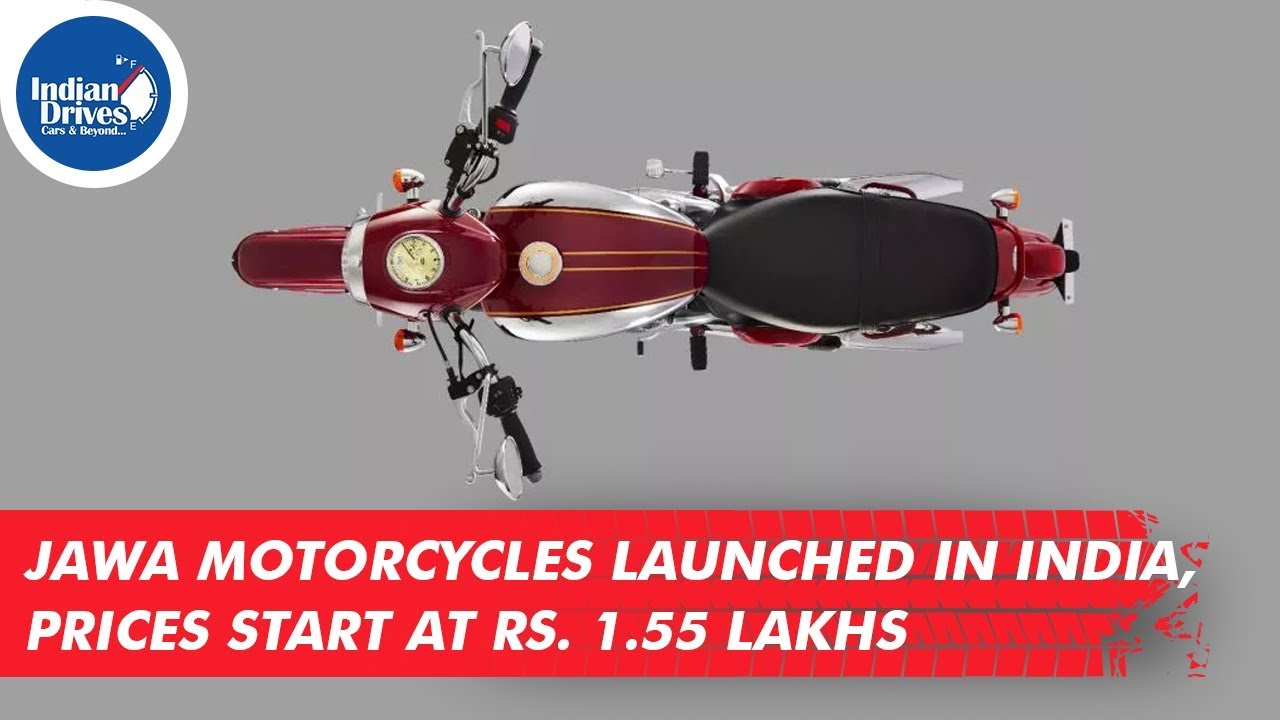Jawa Motorcycles Launched In India, Prices Start At Rs. 1.55 Lakhs