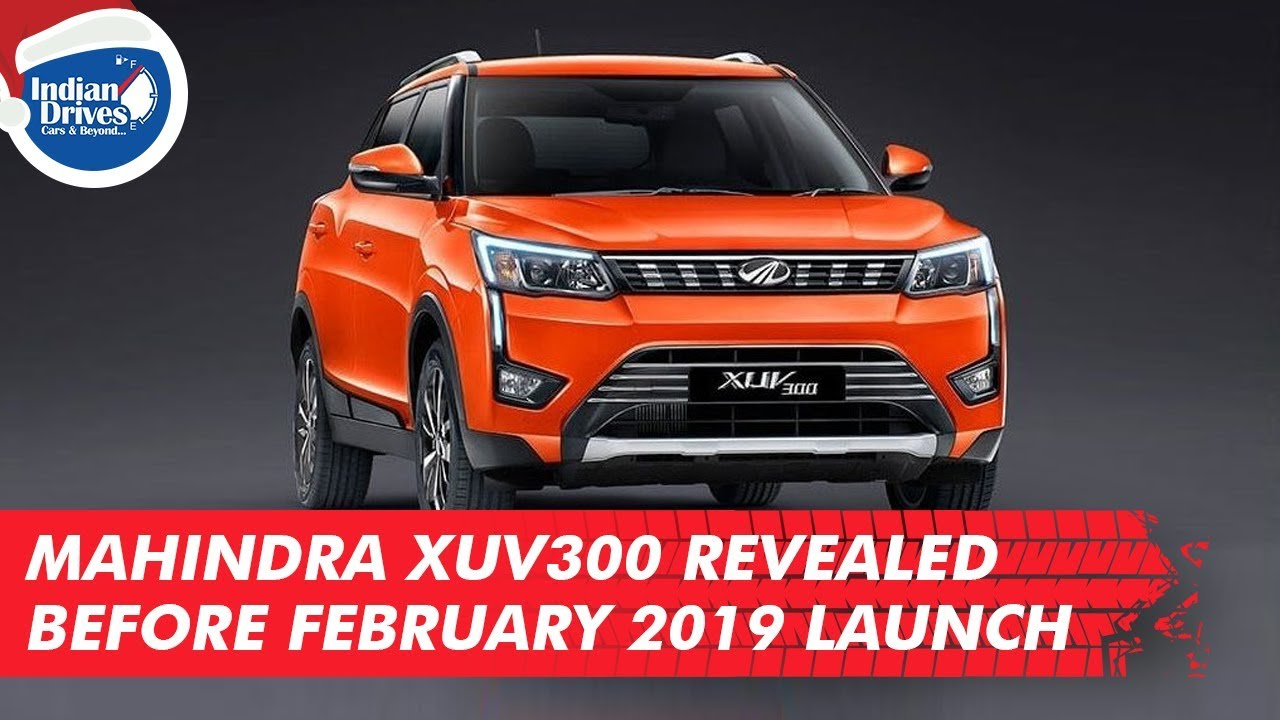 Mahindra XUV300 Revealed Before February 2019 Launch