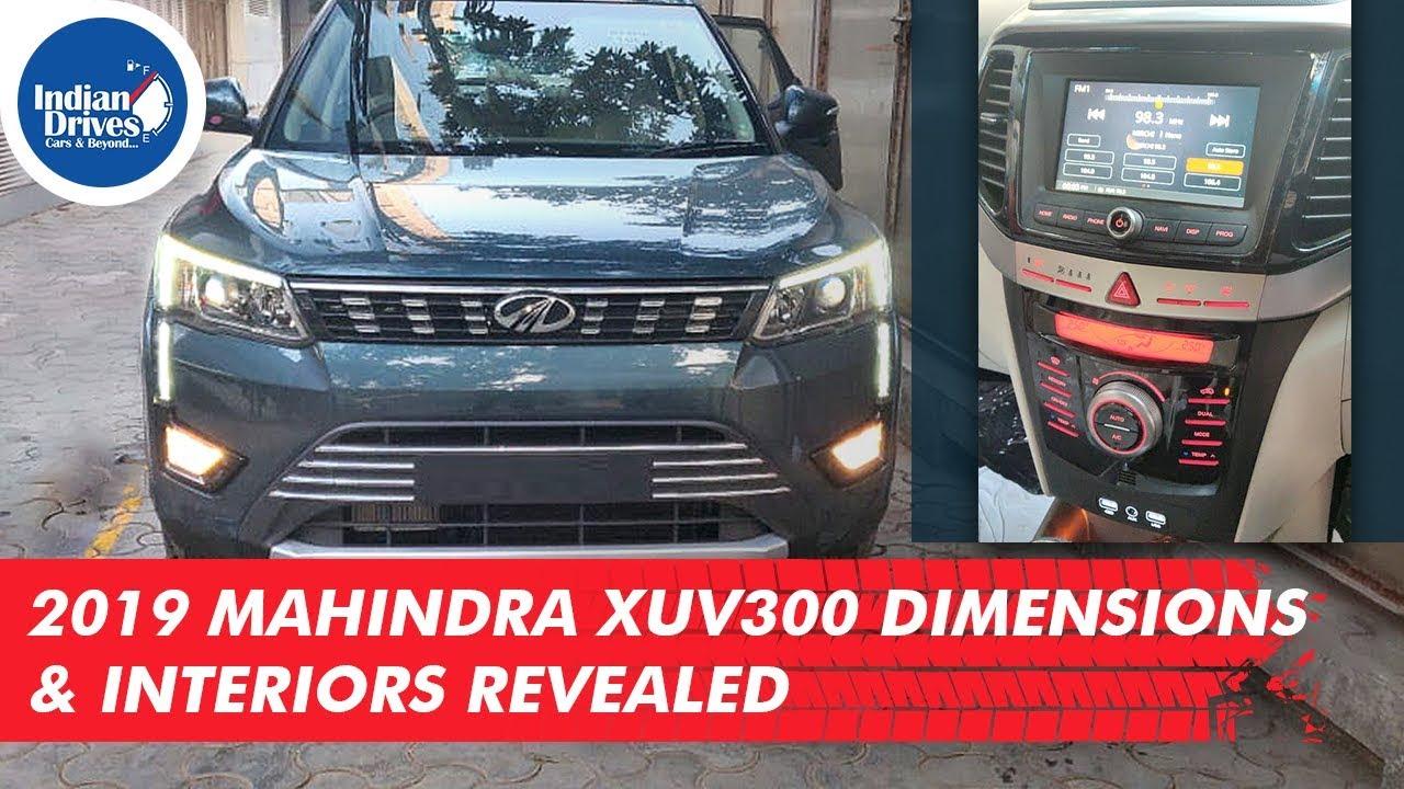 2019 Mahindra XUV300 Dimensions & Interiors Revealed