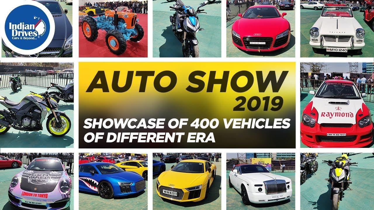 Auto Show 2019 at BKC, Mumbai – Showcase of 400 Vehicles Of Different Era