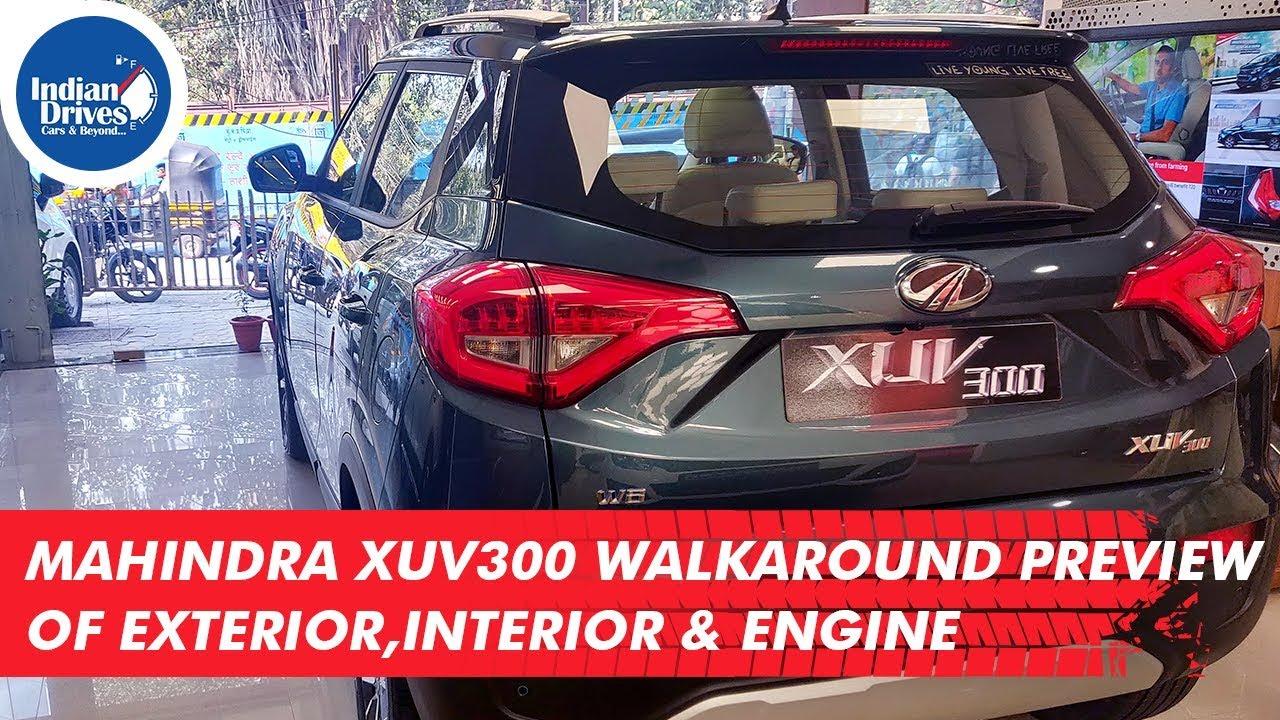 Mahindra XUV300 Walkaround Preview Of Exterior, Interior & Engine