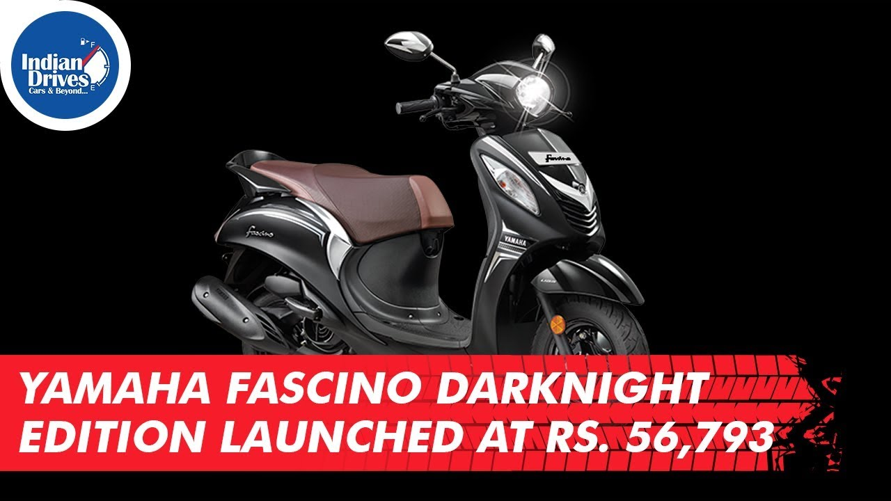 Yamaha Fascino Darknight Edition Launched At Rs. 56,793