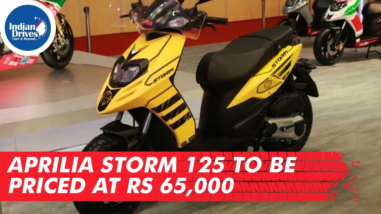 Aprilia Storm 125 To Be Priced At Rs 65,000 Indian Drives