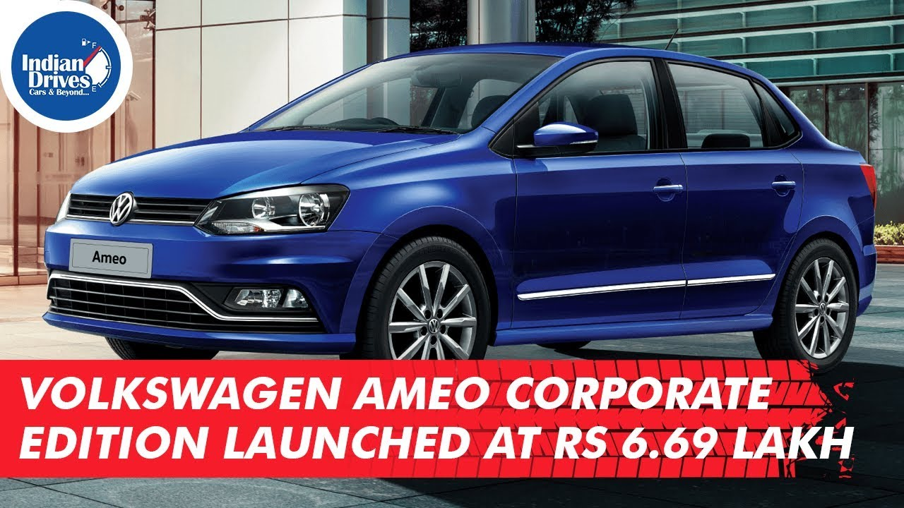 Volkswagen Ameo Corporate Edition Launched At Rs 6.69 Lakh