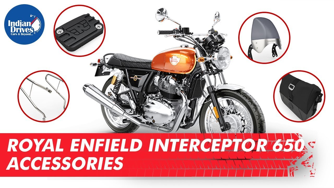 Royal Enfield Interceptor 650 Accessories | Indian Drives