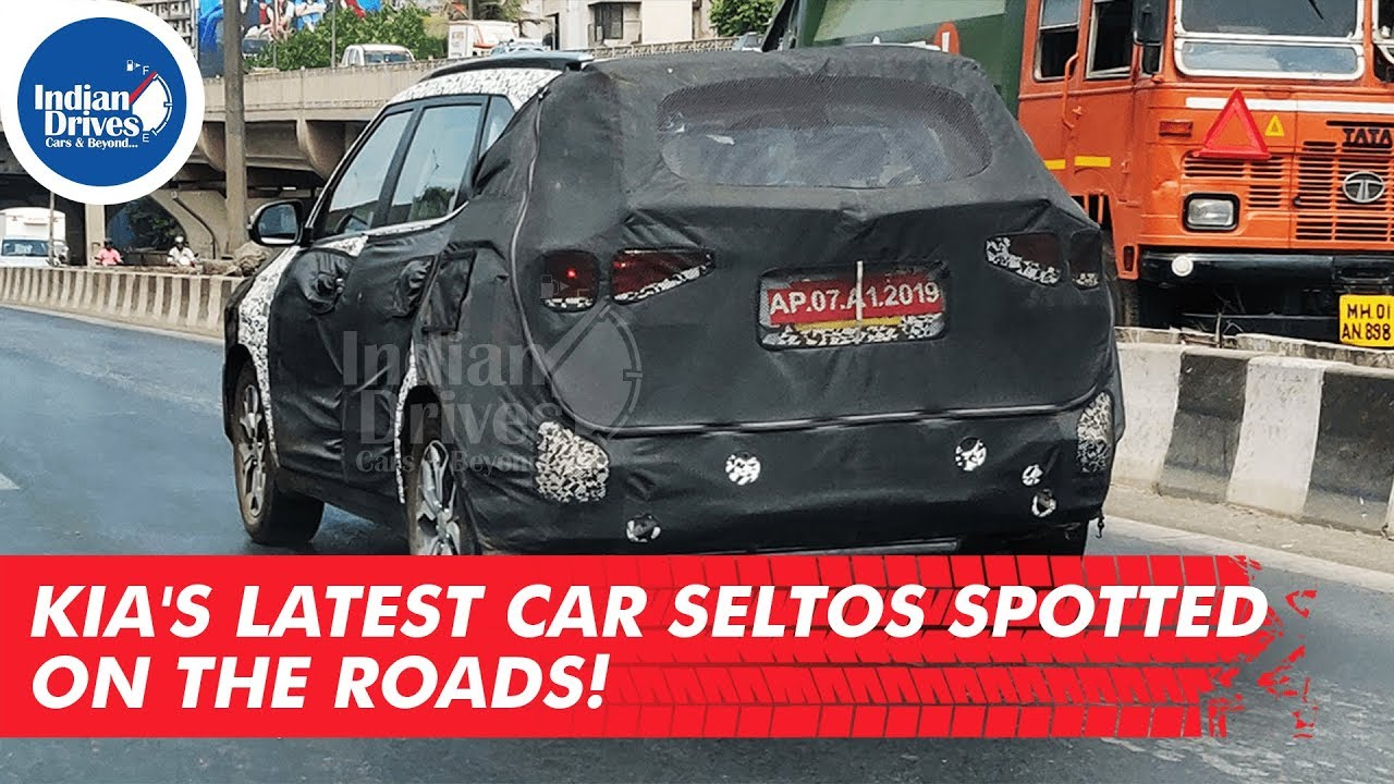 Kia Latest Car Seltos Spotted On The Roads Indian Drives
