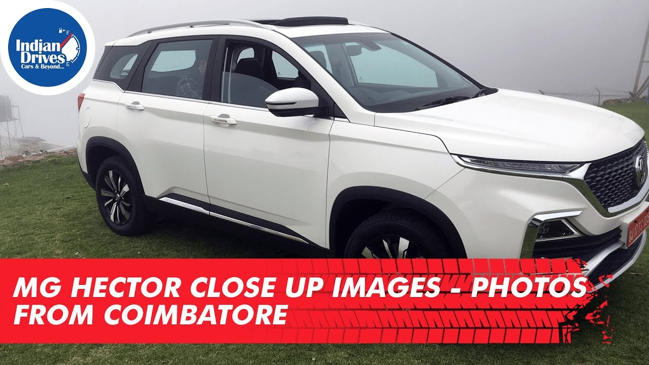 MG Hector Close Up Images Photos from Coimbatore