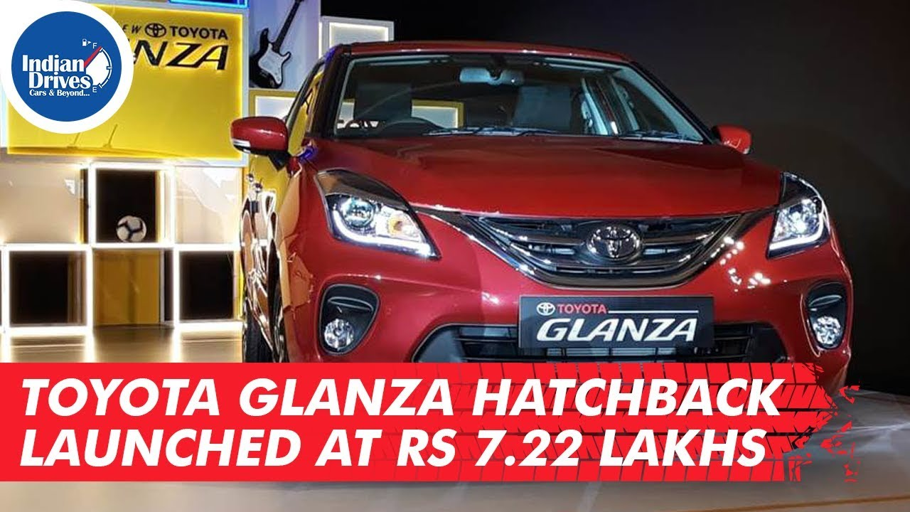 Toyota Glanza Hatchback Launched At Rs 7.22 Lakhs